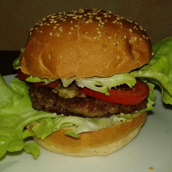 Hamburger maison vegan